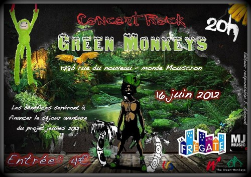 Green Monkeys, Frégate, juin, Mouscron