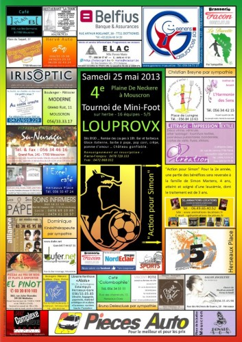 tournoi, mouprovx, mini, foot, action, simon, leucémie, plaine, de neckere, inscription, jouer, bar, sortir, traitement
